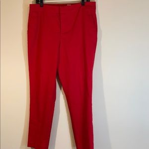 Travel Smith Red Dress Pants Size 14